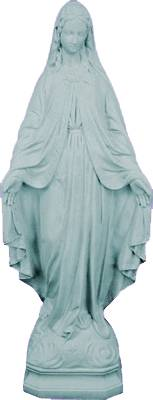 "24"" Our Lady Of Grace Outdoor Statue xmas15k, lawn statue, religious garden statue, garden madonna, yard madonna, our lady of grace lawn, lawn statuary"