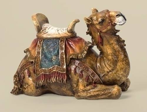 "27"" Scale Seated Camel JS27, color nativity, nativity seated camel, nativity animals, resin statue, joseph studio, outdoor decor, indoor decor, christmas yard decor, 35213"