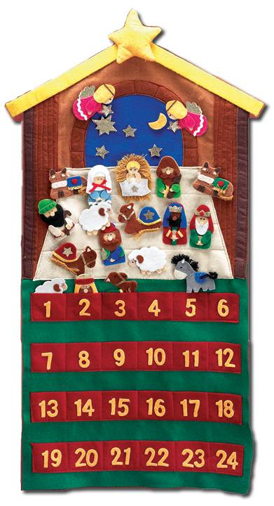 "29"" Felt Velcro Nativity Advent Calendar children%27s advent calendar, child advent calendar, nativity advent calendar, felt nativity advent calendar, advent calendar for children, best selling advent calendar"