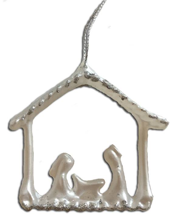 "3"" Glass Nativity Ornaments  *WHILE SUPPLIES LAST* nativity ornament, glass ornament, holy family ornament,quantity discounts, BF14"