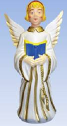 "30"" Angel With Glitter Gold Wings GF60, c3660, lighted angel, outdoor angel, nativity angel, lawn angel, choir or angels, yard angel, outdoor nativity angel"
