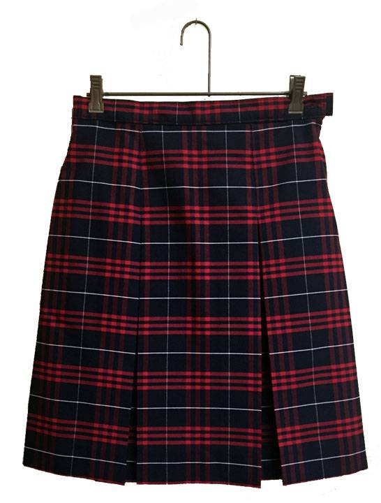 #37 Box Pleat Uniform Skirt 13437, 3437 skirt, 34 style skirt, #37 plaid, 37 uniform plaid skirt, 37 uniform plaid, girls plaid uniform skirt