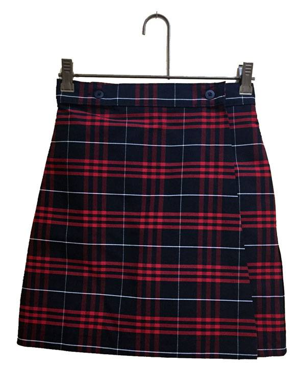 #37 Poly/Cotton Wrap Front Skort