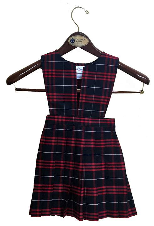 #37 Uniform Jumper with Slit Bib & Knife Pleat Skirt 37 plaid jumper, 17237 plaid jumper, 17237, 17237 jumper, 37 plaid, #37 plaid, drop waist jumper, plaid school uniform jumper, plaid jumper, school uniform jumper, school uniform dress, plaid dress, hamilton, hamilton plaid, dennis hamilton, dennis hamilton plaid