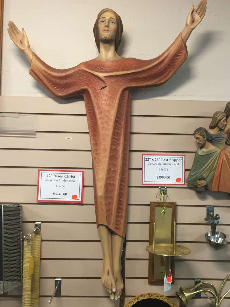 "Demetz 42"" Risen Christ, Carved in Lindenwood, Made in Italy art studio demetz"