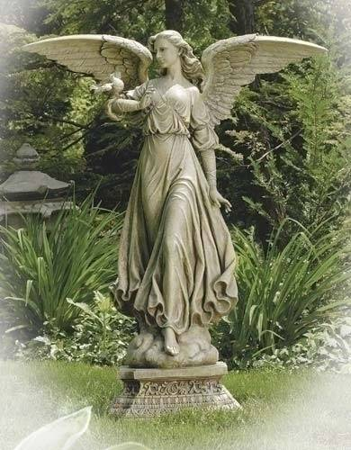 "47"" Scale Garden Angel Statue angel statue, outdoor statue, indoor statue, joseph studio collection, church decor, 27053"