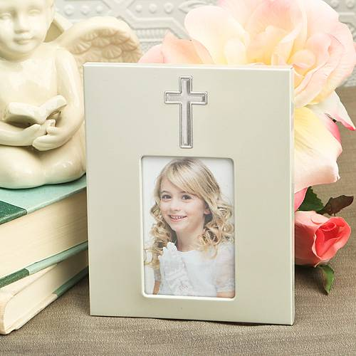 "5"" x 4"" Cross Frame party frame, group gift, cross frame, party favor, cross favor, cross picture frame, small picture frame, religious picture frame, cross gift, cross keepsake"