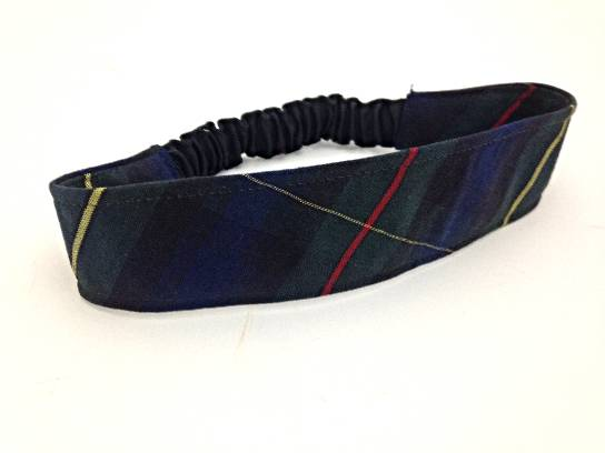 Elastic Headband, #55 Plaid