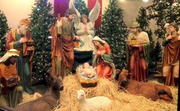 "59"" Colored Nativity Set - Fiberglass xmas15l, nativity set, christmas nativity, large nativity, outdoor nativity, indoor nativity, church nativity, home nativity, zy15679"