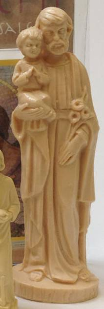 "6"" Plastic St. Joseph Statue plastic st joseph statue, st joseph statue, saint joseph statue, st. joseph statue, home sale statue, home sale kit, religious home sale, catholic statue for real estate, catholic saint for home sale,"