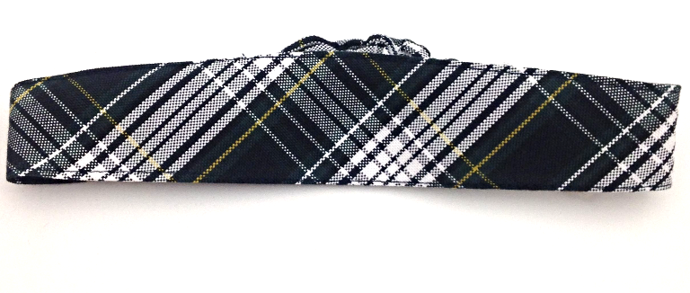 Elastic Headband, Plaid #61 hair accessories, hair band, hair tie, uniform accessory, plaid hair, ponytail holder,headband, elastic headband, plaid headband,FBE50 #61