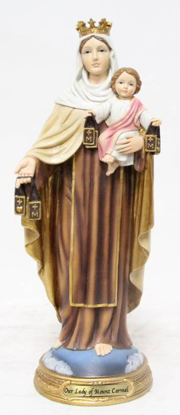 "8"" Our Lady of Mount Carmel Statue, Heaven%27s Majesty"
