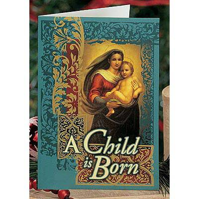 """A Child is Born"" Boxed Christmas Cards christmas cards, boxed cards, holiday cards, stationary, seasonal cards, 15056T"