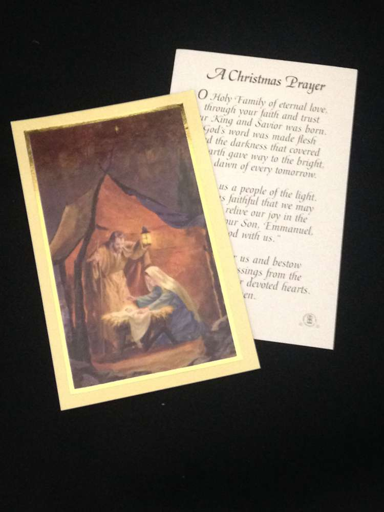 A Christmas Prayer Prayercard, 100/pkg *WHILE THEY LAST* prayer card, inspiration cards, group gift, retreat gifts, message card, christmas prayer card, holy card, 44060