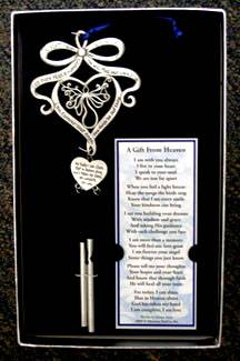 A Gift From Heaven Memorial Wind Chime and Bookmark wind chime, music chime, outdoor decor, gift, memorial chime, gift from heaven, yard chimes, GFH