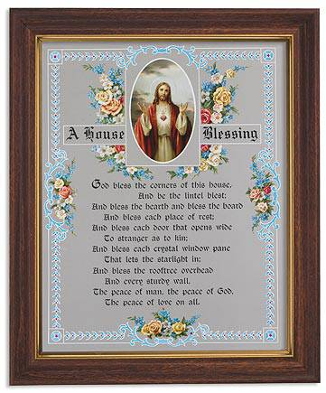 A House Blessing Framed Picture house blessing, home picture, new home gift, wedding gift, framed art, prayer, 81-084