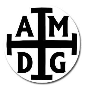 AMDG Auto Magnet  nativity magnet, car magnet, auto magnet, keep christ in xmas, auto decoration, religious car magnet, religious bumper sticker