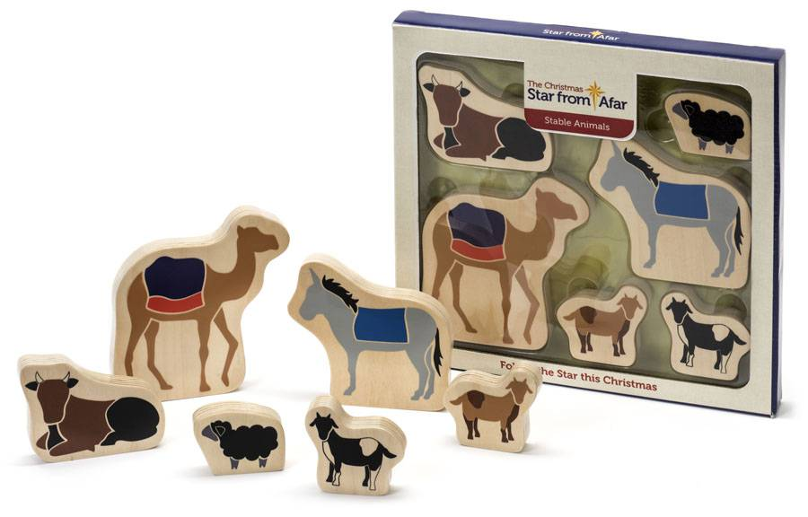 """Traveling Star"" Nativity Additional Stable Animals Set ht15, star from afar, the star from afar, the star from a far, star from a far, children%27s nativity set, kids nativity set, childrens nativity set, kids nativity playset, kids nativity, childs nativity, child%27s nativity, nativity playset, fisher price nativity, lego nativity, wooden nativity, wood nativity,  small nativity, nativity book, children%27s christmas book, childs christmas book"