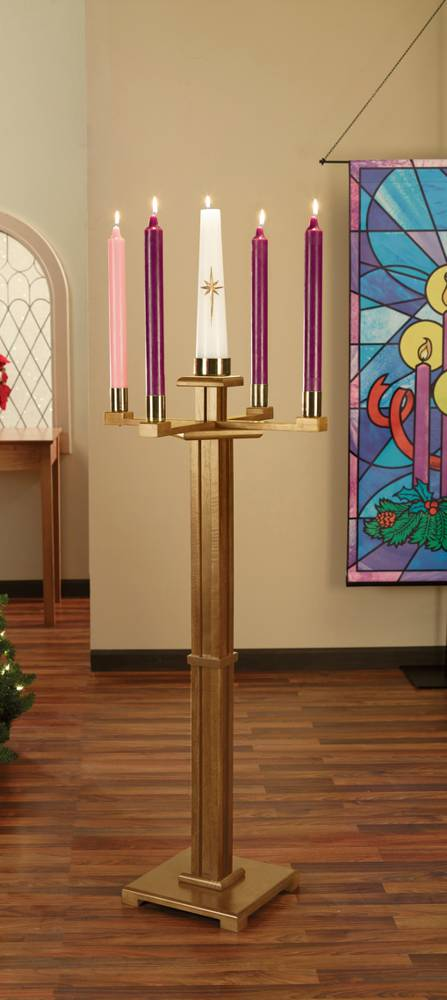 Church Advent Candlestick Church, candlestick, advent, advent candlestick, advent wreath, wreath, 61488, 61488NB, MC983NB