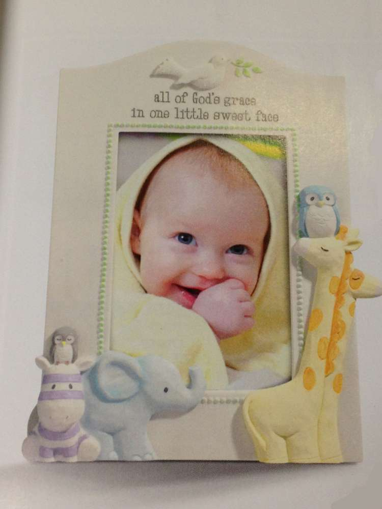 All of God%27s Grace Baby Frame frame, baby frame, shower gift, new baby gift, picture frame gift, baptism gift, christening gift, baby boy theme, baby gift, animals, 470952