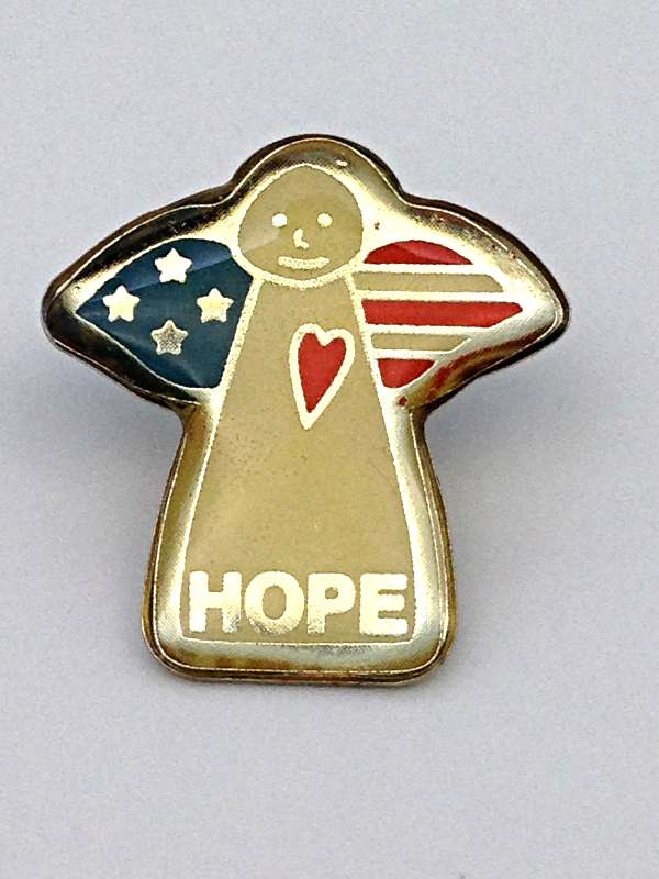 American Angel of Hope Lapel Pin/25 PK lapel pin, angel pin, hope pin, patriotic pin, flag, 72325