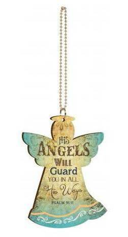 Angels Will Guard Car Charm car charm, angel charm, key chain, key ring, auto accessory, angel, CAR0031