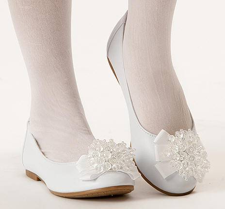 Anna First Communion Shoe first communion shoe, white shoe, girls shoe, white ballet flat, white ballet shoe, special occasion shoe,
