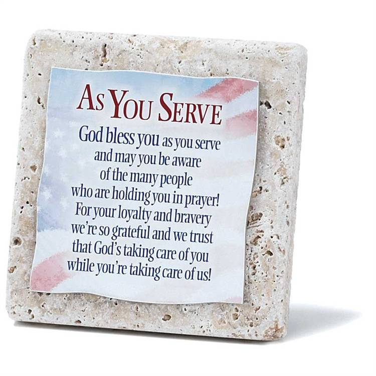 As You Serve Tile 4x4 Standing Plaque