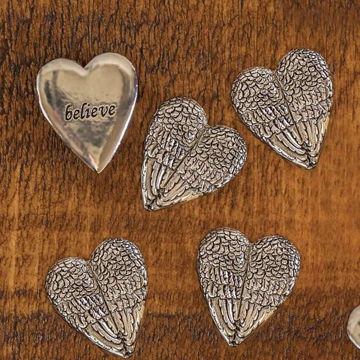 Assorted Feather Heart Wish Tokens