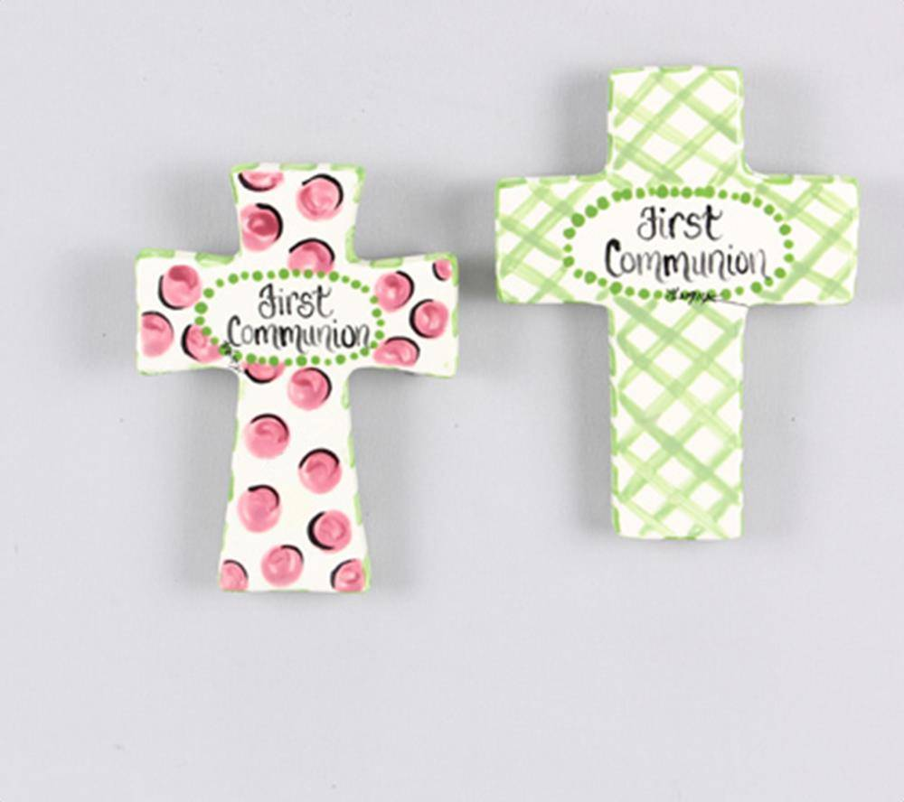 Assorted First Communion Ceramic Wall Crosses