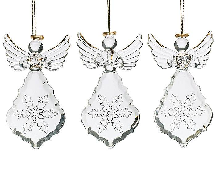 Christmas Ornament Angels From Office Supplies: Assorted Silver Wire Angel Ornaments