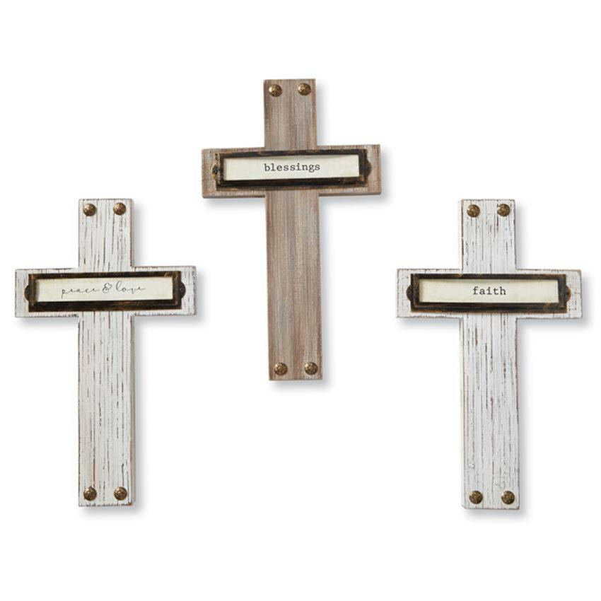 Assorted Wood Bookplate Crosses wall cross, no corpus, message cross, wood cross, hanging cross, home cross, sacramental gift, baptism gift, communion gift, confirmation gift, 4345076