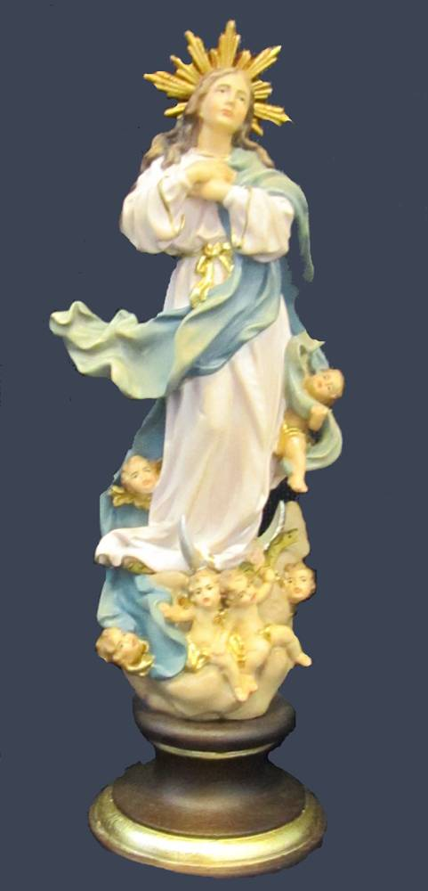 Assumption of Mary Statue solid wood statue, hand carved statue, italian made state, maple wood statue, home decor, church decor, colored statue, mary statue, assumption statue, 4015G/15