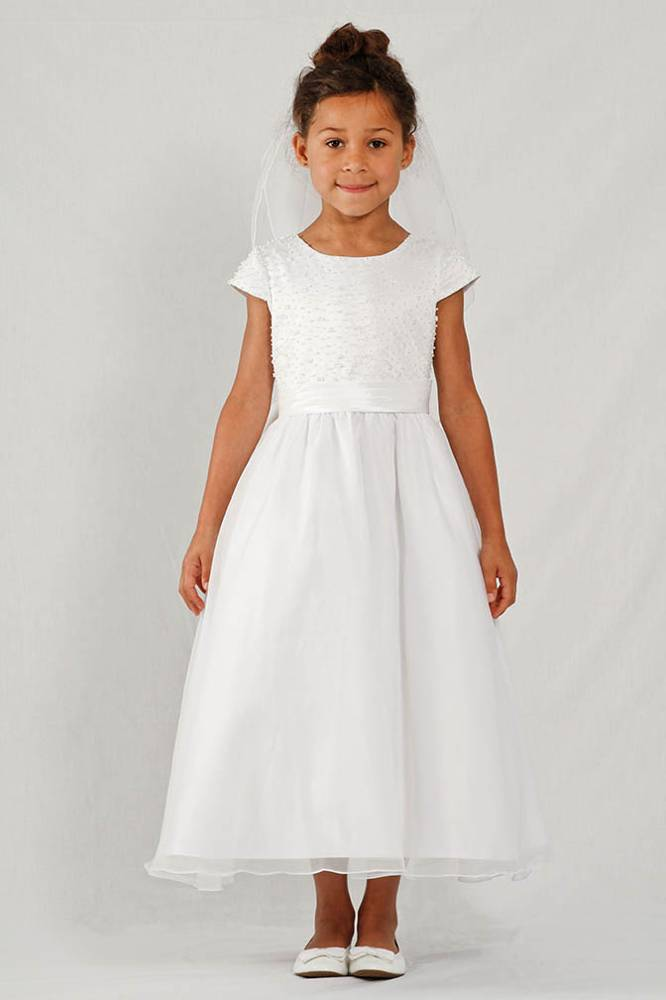 Avery White First Communion Dress *WHILE SUPPLIES LAST* first communion dress, first eucharist dress, white dress, little girl dress, flower girl dress,  special occasion dress,