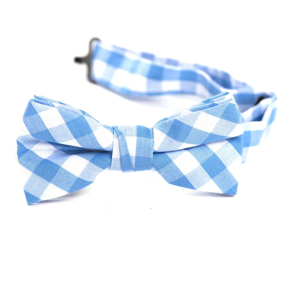 Baby Blue & White Gingham Bow Tie bow tie, bowtie, boys tie, first communion tie, boys first commuion apparel, first communion apparel, boys communion tie, boys tie, boy%27s tie, boys plaid tie, plaid tie, neckties