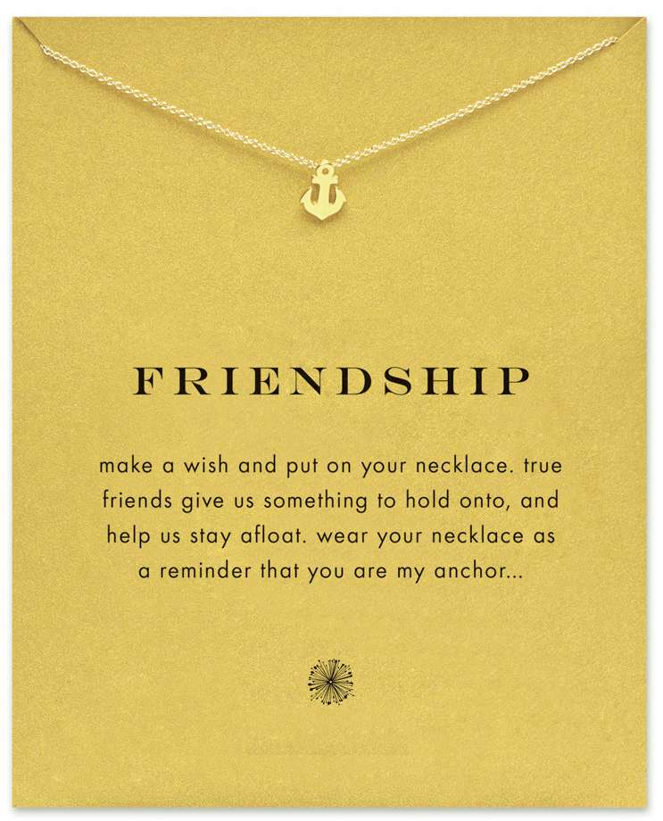 Friendship Anchor Necklace, Gold Dipped
