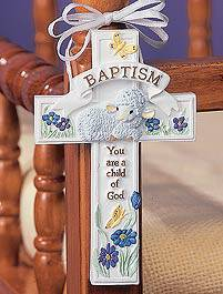 Baptism Cross Adornment baby gift, baptism gift, christening gift, baby cross, baptism cross,  child gift,