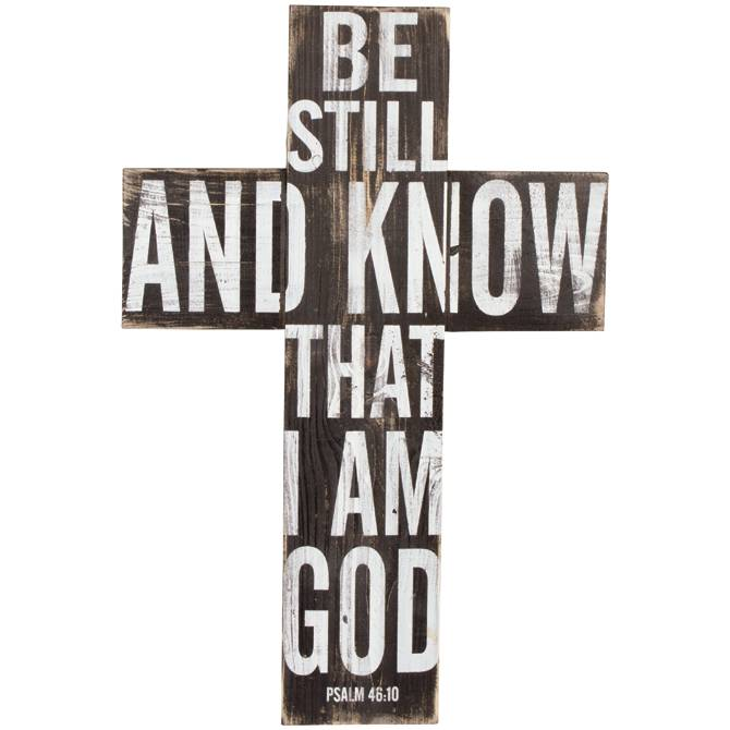 Be Still Wall Cross wall cross, room decor, office decor, church decor, lords prayer, be still wall cross, 13766