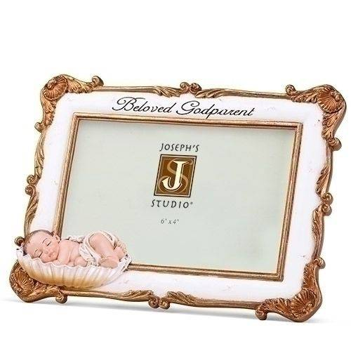 Beloved Godparent Frame godparent frame, godmother, godfather, baptism frame, christening frame, josephs studio, baby frame, gift, sacramental gift, 65052