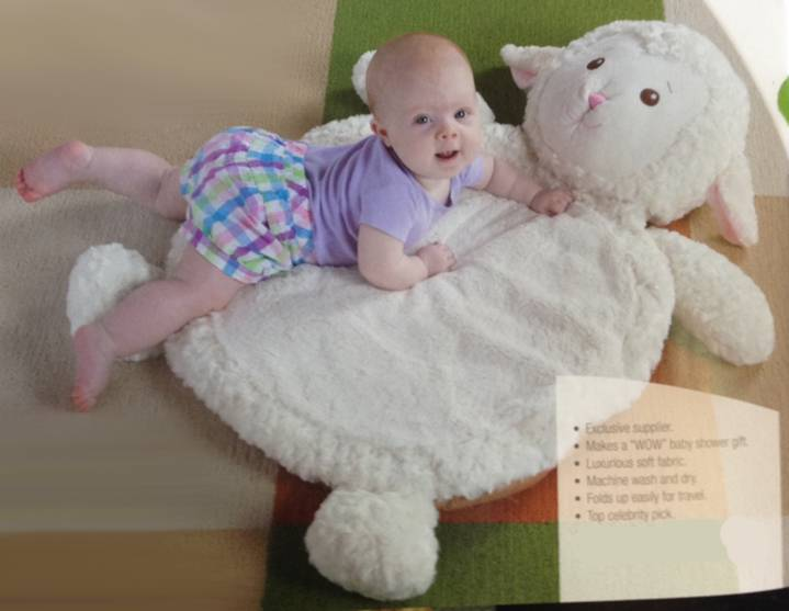 "Bestever Lamb Baby Mat - 31x23"" Bestever Lamb Baby Mat, plush lamb, baby gift, baby plush lamb, lamb toy, floor mat for child, baby play mat, baby playmat"