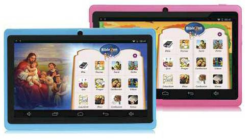 Biblezon Kids Tablet tablet, childrens tablet, bible stories, childrens bible, christmas gift, interactive bible, Q88KB005, Q88KP006