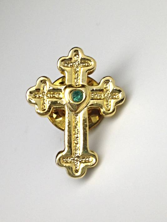 Birthstone Cross Lapel Pin12/PK