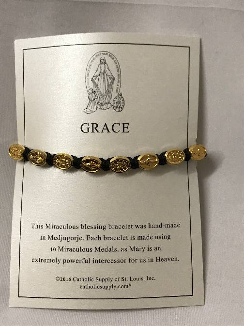 Black/Gold Miraculous Bracelet