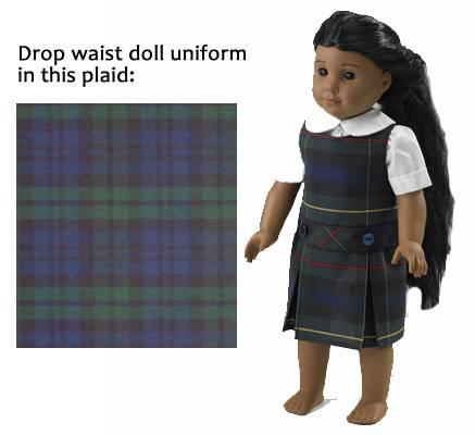 "18"" Doll Blackwatch Uniform american girl uniform, american girl school uniform, 18"" doll school uniform, american girl plaid jumper, american girl plaid uniform, sjm, american girl doll dress, american girl clothes, american girl school clothes, american girl school uniforms, american girl doll dresses, american girl plaid dresses"