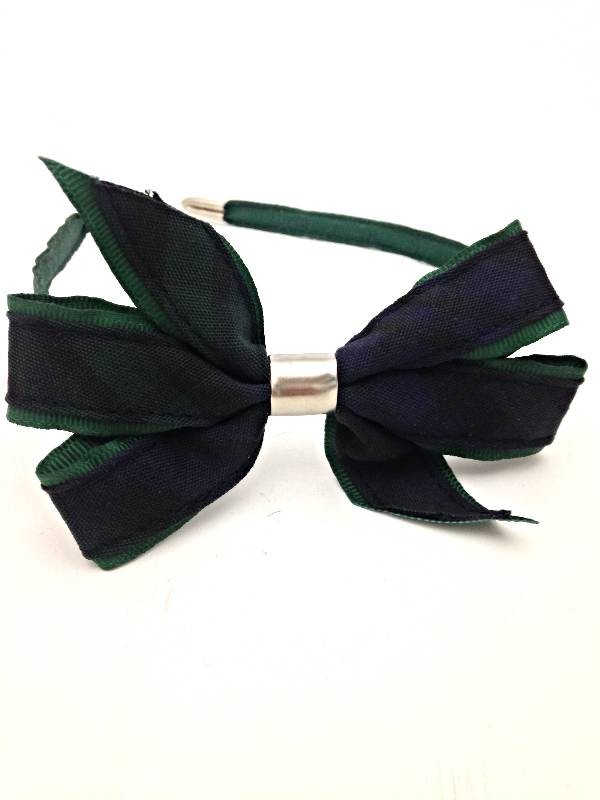 Blackwatch Headband with Bow