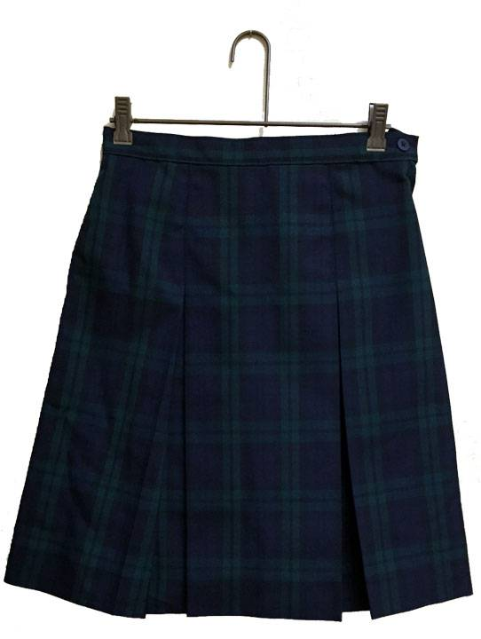 Blackwatch Poly Box Pleat Uniform Skirt SJM, PLAID KICK PLEAT SKIRT, PLAID UNIFORM SKIRT, PLAID SKIRT, GIRLS PLAID SKIRT, SCHOOL UNIFORM SKIRT