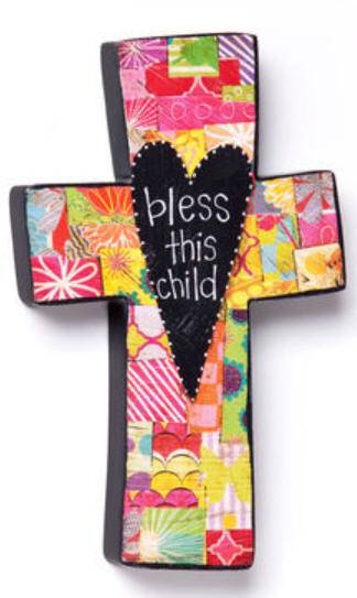 %27Bless This Child%27 Wall Cross new baby, new baby gift, baptism, baptism gift, christening, christening gift, shower gift, wall cross, noah%27s ark wall cross, baby wall cross, baby cross, special occasions