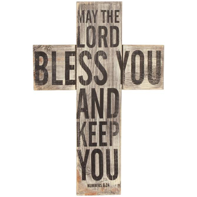 Bless You Wall Cross wall cross, room decor, office decor, church decor, Bless you cross, wood cross, keep you wall cross, 13765