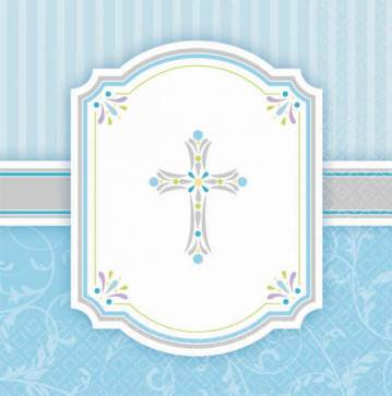 Blue Napkins 513846, 503846, first communion partyware, blue partyware, girl first communion , boy first communion party, first communion party, paper products,blue napkins, first communion napkins, boy napkins, blue beverage napkins, blue luncheon napkins