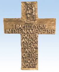 Bronze Baptismal Cross new baby gift, baby gift, baptism gift, baptism cross, baby cross, wall cross, indoor cross, outdoor cross, bronze cross, christening gift, christening cross, baby shower gift, cross gift